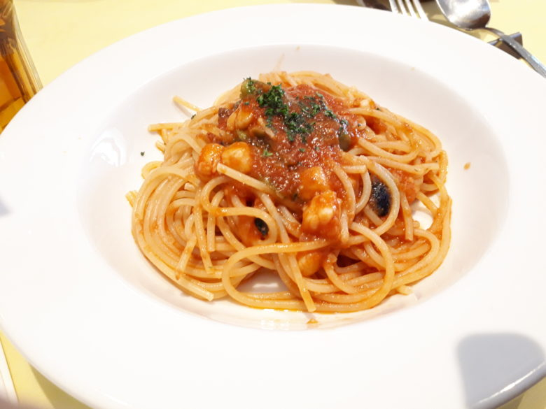 帆立トマトパスタ