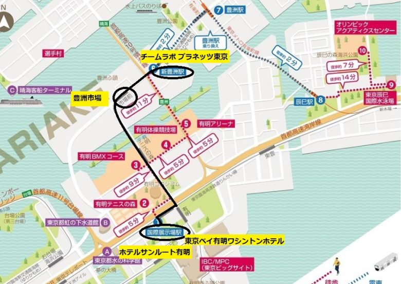 豊洲観光マップ