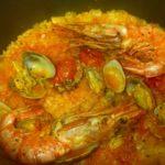 パエリアレシピ6 炊飯器で炊く