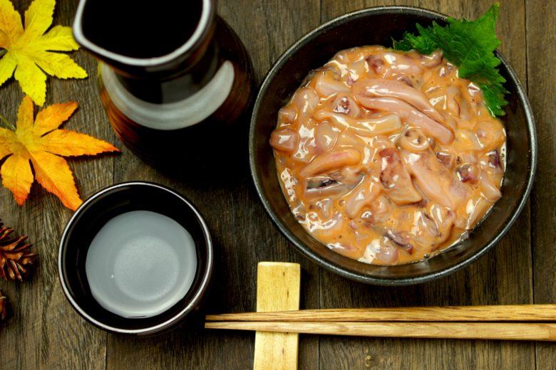 塩辛と日本酒