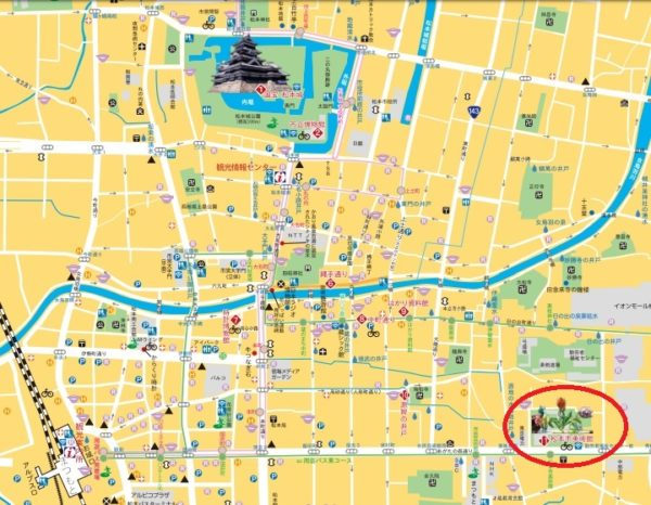松本市観光マップ