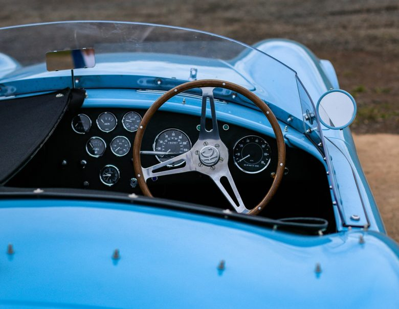 ブルーのスーパーカー