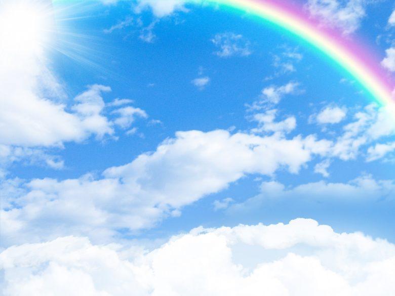 雨の日納車 虹