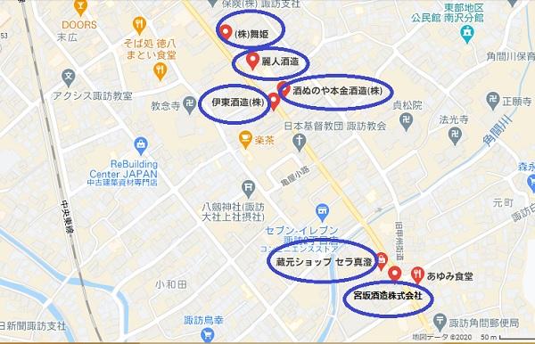 5蔵元 地図