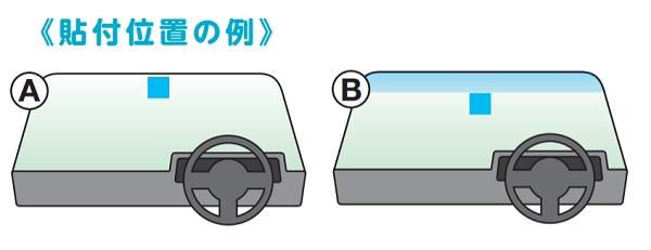 前面ガラスが着色されていた場合の貼り付け方