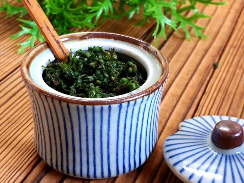 紫蘇の実の塩漬けレシピ